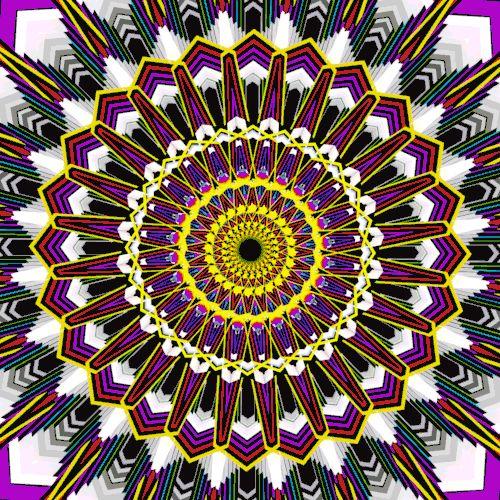 Animated kaleidoscope image