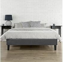 Night Therapy Grey Essential Upholstered Platform Bed - Queen