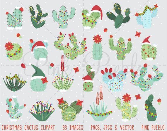 Christmas Cactus Clipart Christmas Cactus Clip Art Succulent Etsy In 2021 Christmas Cactus Flower Christmas Cactus Cactus Clipart