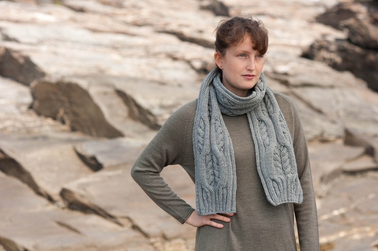 Samantha scarf by Cecily Glowik MacDonald for Quince & Co.