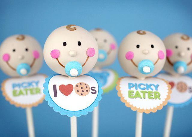 Baby Boy Cake Pops for Jenny by Bakerella, via Flickr