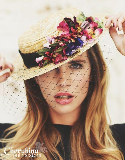 The Boater Hat | Cherubina - Moda, tocados y mucho más