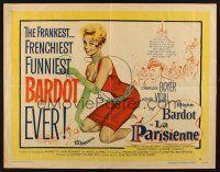 8y700 LA PARISIENNE stili Seksi Brigitte Bardot, boudoirs & bikinis'in 1 / 2sh '58 resmi!