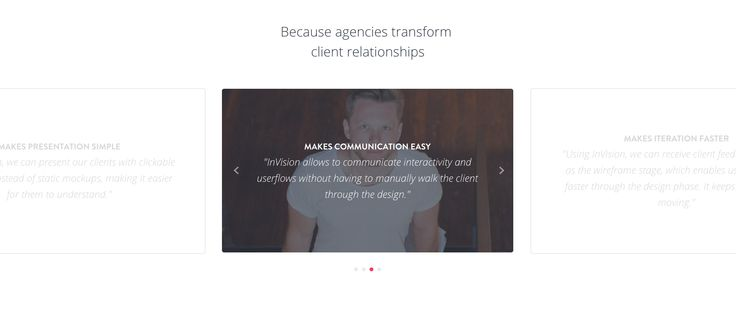 Invision app #testimonials #webdesign #inspiration