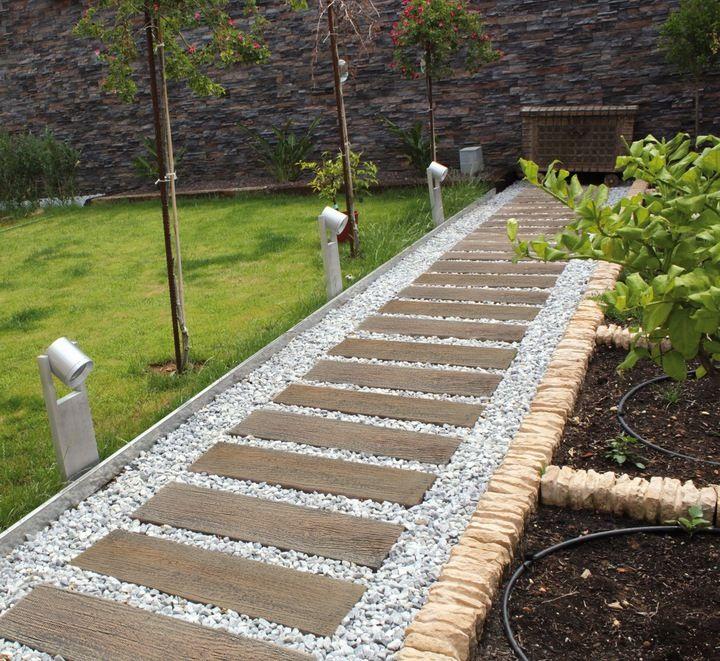 Drewno Betonowe Deska Betonowa Plyta Tarasowa Garden In The Woods Garden Front Of House Garden Paths