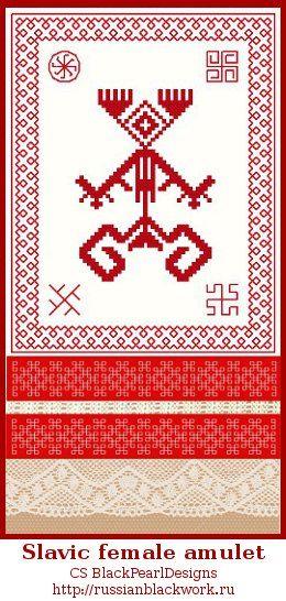 Rozhanitsa, ethnic inspired embroidery by RussianBlackwork