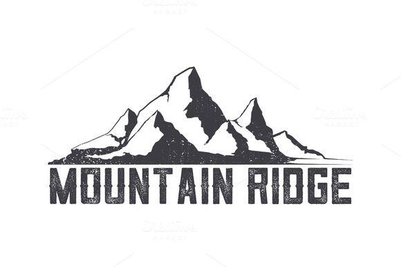 Mountains ridge-vector logo. by I-RO on Creative Market