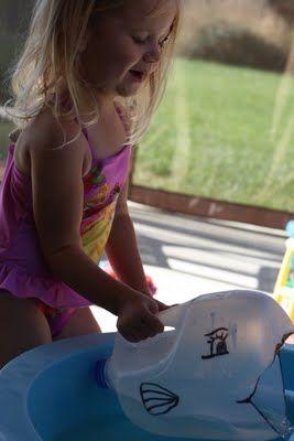 Whale Milk Jug For pool or tub
