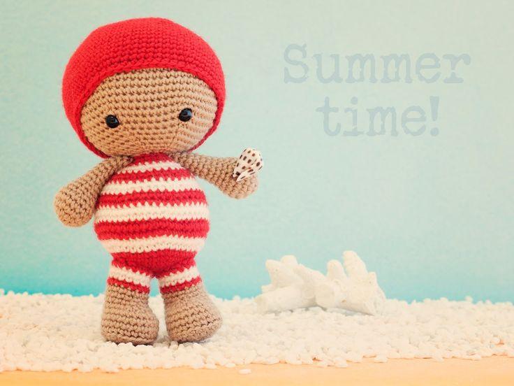 Amigurumi muñeca verano (enlace a patrón)