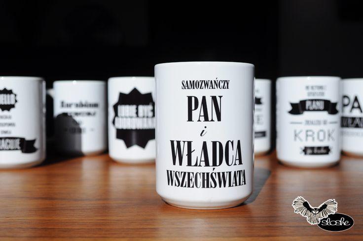 Kubek+450ml+Samozwańczy+Pan+i+władca+wszechświata+w+SLOSHE+na+DaWanda.com