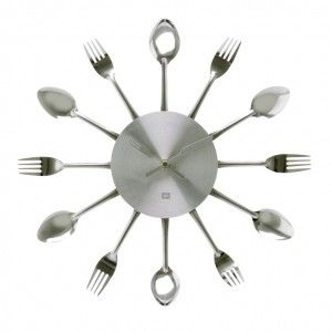 forks and spoons clock
