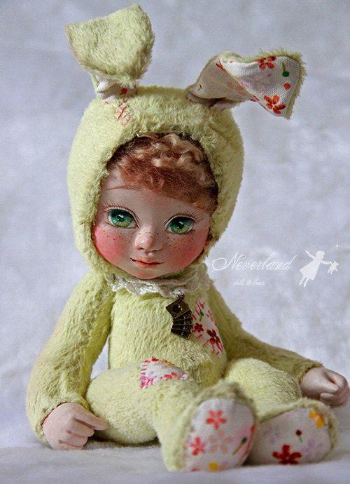 Ooak handmade Art Doll Artist Bear / Easter par NeverlandBears