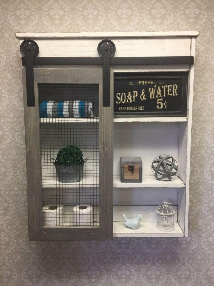 46 Gorgeous Rustic Bathroom Storage Ideas – Bathroom re-do.