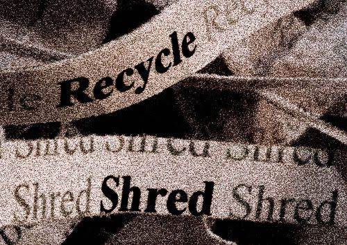 We recycle all of the paper that we shred