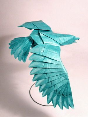 More amazing Origami Eagles by Nguyen Hung Chuong.