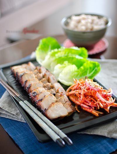 Vietnamese Food: Grilled Pork Belly in Korean Style Recipe (Ba Chỉ ...