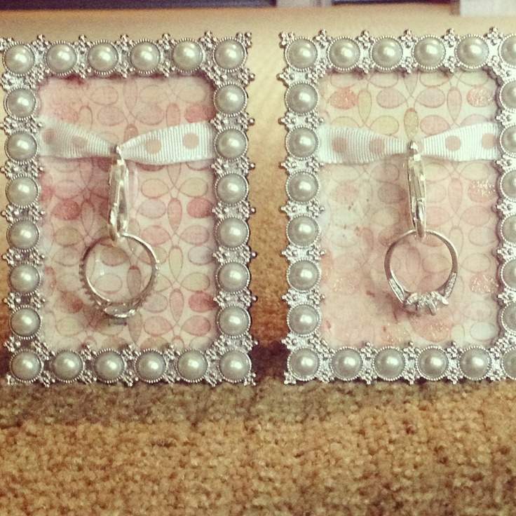 Cute picture frame ring holder while you sleep or shower :) #DIY