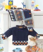 Baby's Sweater pattern  http://us.schachenmayr.com/free-patterns/babys-sweater-0/Free%20Pattern%20-%20Regia%20-%20Design%206619.pdf