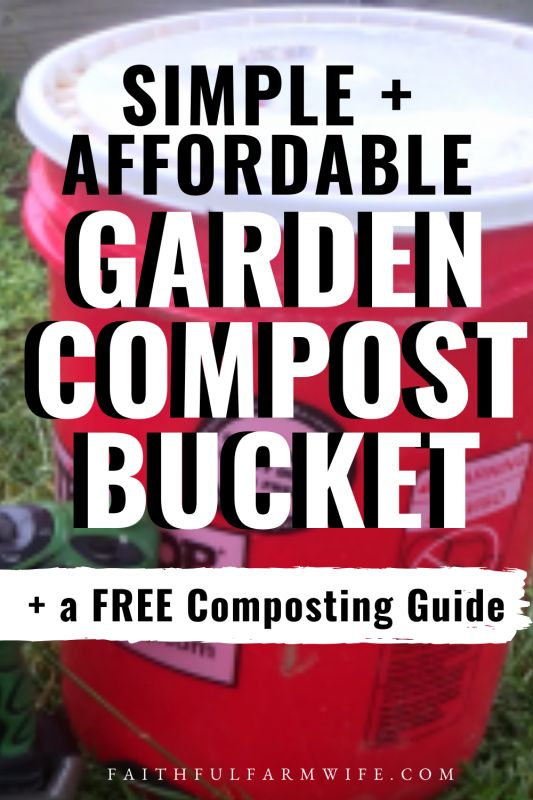 DIY Compost Bin with a 5 Gallon Bucket in 2020 (With ...