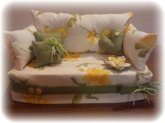 divanetto porta kleenex porta kleenex stoffa,decorazioni varie artigianale