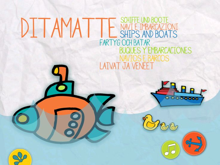 A magical colouring book! That is what Ships and boats is. With a simple touch of your fingers a sailing boat, a colourful rubber ring, a pirate ship, a submarine, and a group of ducks are ready to ride the ocean waves. The first book in the DITAMATTE collection, Ships and boats, teaches children who do not yet have strong reading and writing skills, what the word floating means.