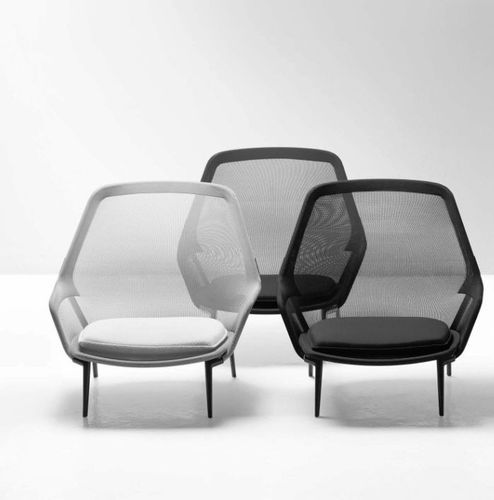 Contemporary armchair by Ronan & Erwan Bouroullec SLOW CHAIR vitra USA