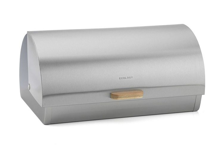Ecology Acacia Provisions Stainless Steel Bread Bin