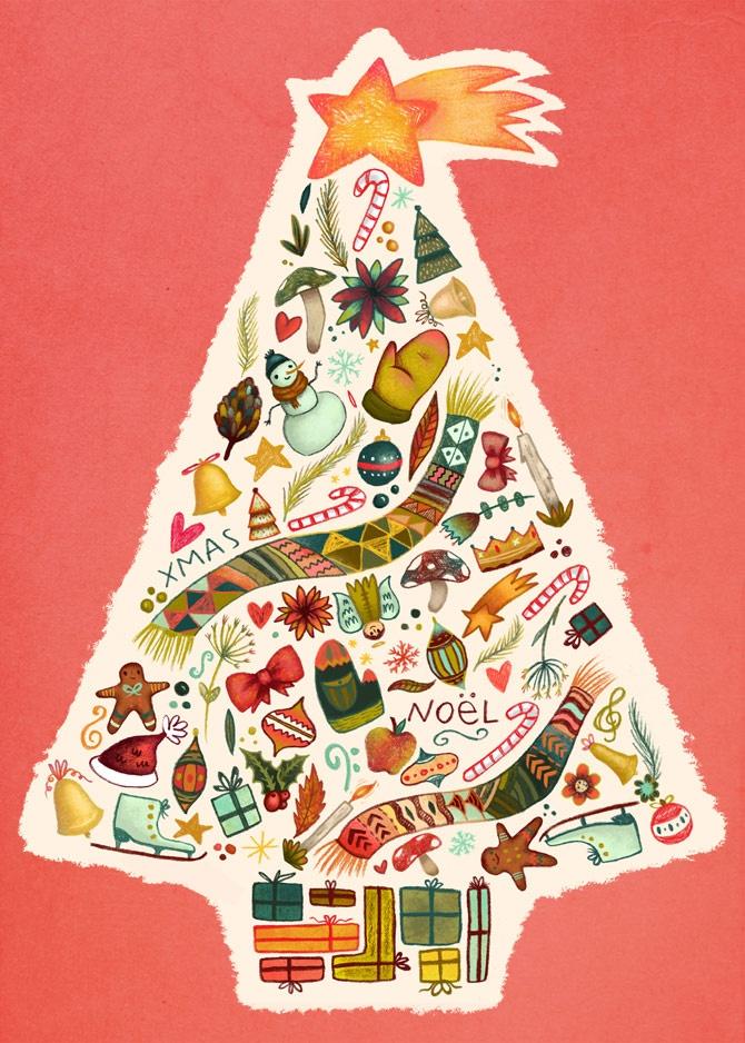 Christmas tree - Laura Wood Illustration