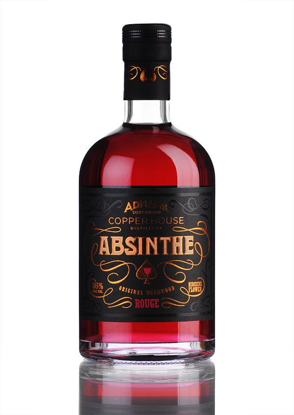 Absinthe Adnams Absinthe Rouge #packaging #graphic #design #absinthe spirit mxm