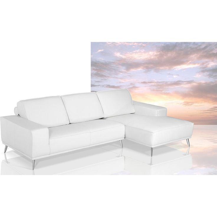 Dima Elite - Modern Italian White Leather Sectional Sofa