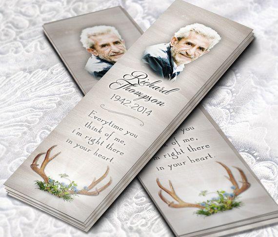 Signet mortuaire imprimable signet funéraire par OBercailDesign