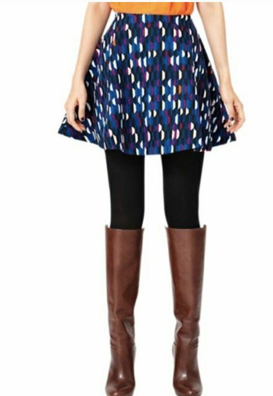 65f6c6ea35 Kate Spade Sat Circle Mini Skirt shifting shapes Size 8 Women   katespadenewyork  CircleSkater