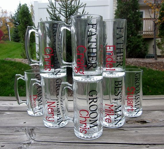Personalized Beer Mug - Great for Your Wedding Party on Etsy, $8.00
