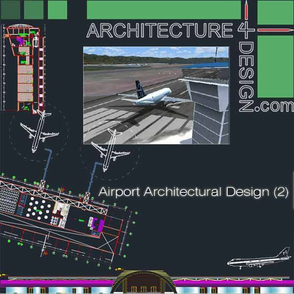 Airport Terminal Design Samples Autocad Dwg Transportation Pinterest Autocad Architecture