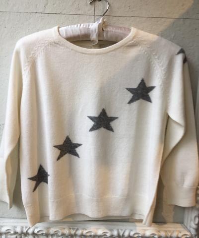 Jumper 1234 cashmere cream jumper with grey stars