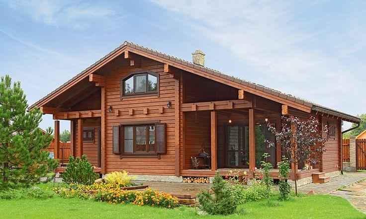 Проект 43-ДМ-135, общая площадь — 134,7 м2, автор проекта: компания «Вишера», проекты домов в журнале «Деревянные дома»