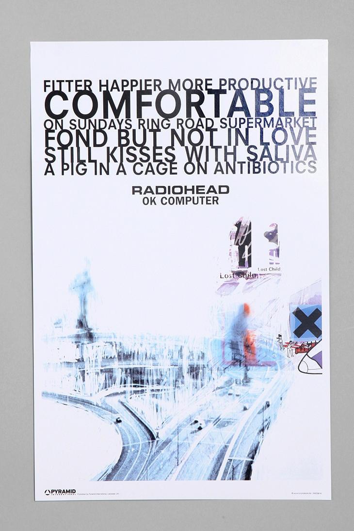 Radiohead Fitter Happier Poster Ok computer, Radiohead