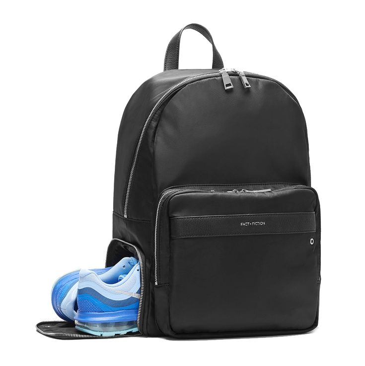 Fact + Fiction Lea Backpack, £125 (also available with gold zips).  The ultimate stylish, functional baby bag.
