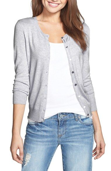 Free shipping and returns on Halogen® Three Quarter Sleeve Cardigan (Regular & Petite) at Nordstrom.com. An enduring favorite, the crewneck button-up cardigan, is refreshed in an eye-catching array of on-trend colors.