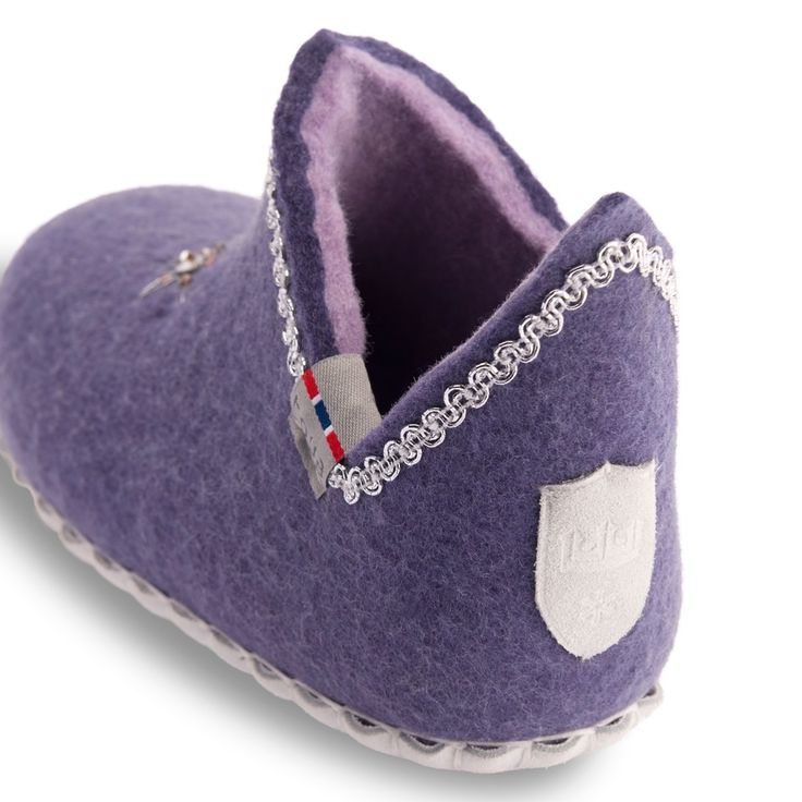 TOVA PRINCESS WOOL SLIPPER. The Perfect Slipper for your Little Princess! 100% Merino wool with a genuine suede sole. Easy pull-on, pull-off style for children. The insulating and breathable properties of the wool keeps feet warm and dry.  Suede soles provide a natural anti-slip surface. tova.no . birchcountrystore.com