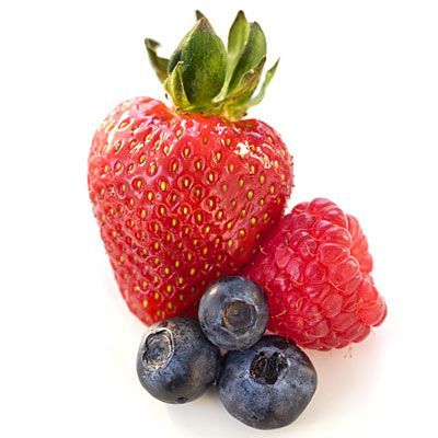 These super fruits help stave off the brain aging that can lead to slower thought processing. Thank the anthocyanins (antioxidants that lend berries their hues); these substances may work with other compounds in the fruit to block enzymes that short-circuit normal communication between brain cells. Since each type of berry has its own mix of phytochemicals, go for a variety.