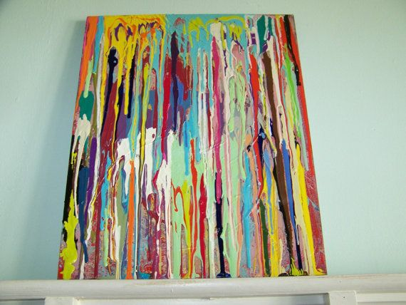 Original abstract  painting Colors and by PaintingsbyCharlotte, $70.00 SOLD