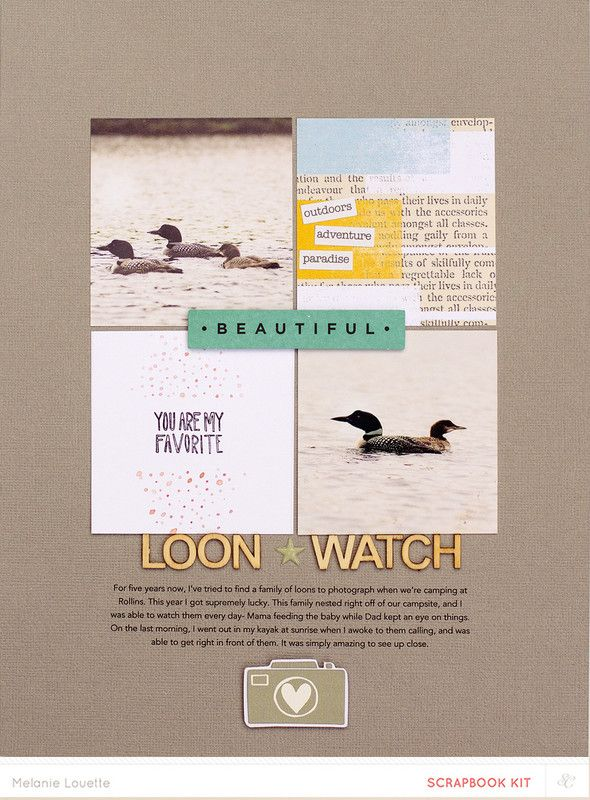 Loon watch by melanie louette at @studio_calico. Great design, beautiful colour palette and perfect use of wood veneer. I love it!