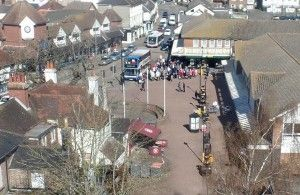 Arial view of Hailsham Town centre