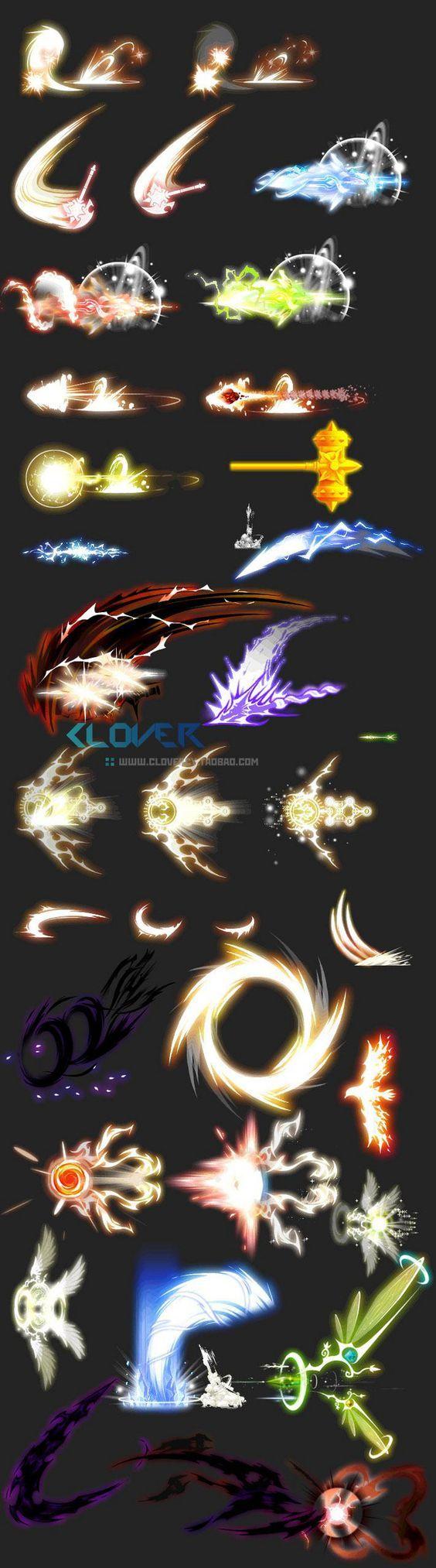 Game art resource skills luminous efficiency even frame material value multi-class ...: