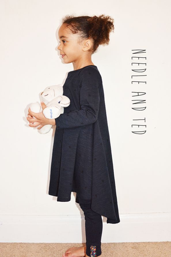 Circle dress made by Needle and Ted. Coming soon to Madeit Patterns