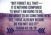 """But forget all that-- it is nothing compared to what I am going to do. For I am about to do something new. See, I have already begun! Do you not see it?"" -Isaiah 43:18-19"