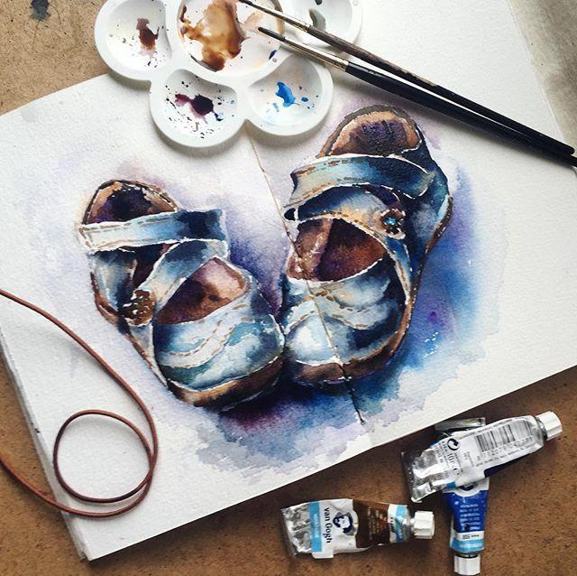 Morning sketch • Приходите рисовать старые ботинки 24 сентября #irina_sart_sketchbook
