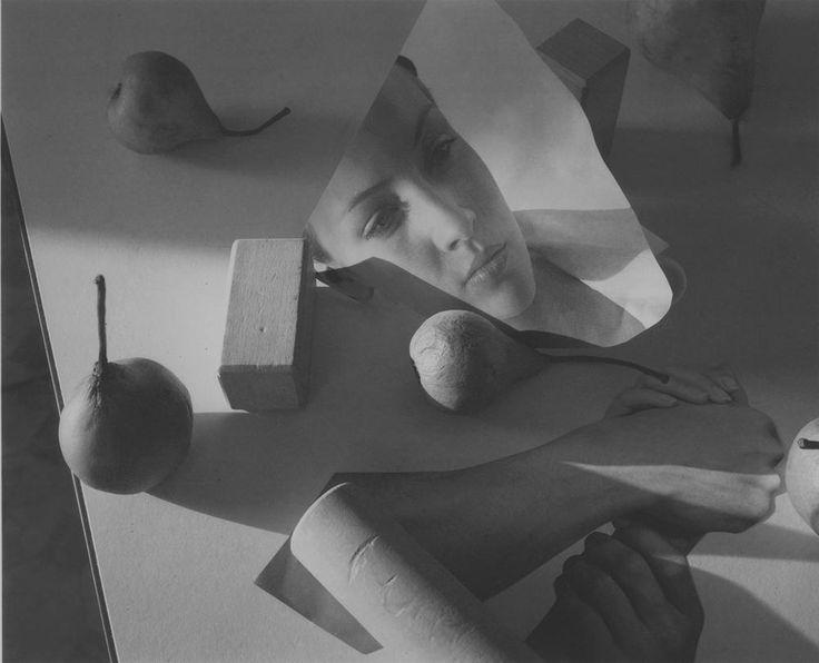"Jed Devine<br /> <em>Untitled (Blocks and Pears)</em><br /> Platinum-palladium print on Japanese rice paper<br /> 8 x 10"""
