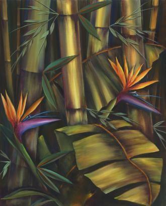Bamboo Bird Glow by Nadine Ramelb